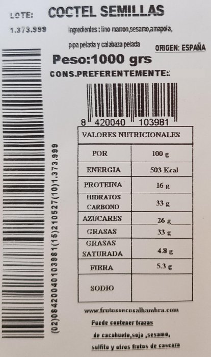 coctel de semillas 1