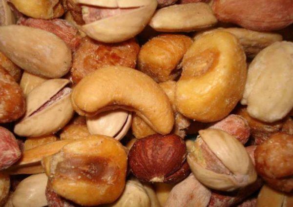 Revuelto con pistachos
