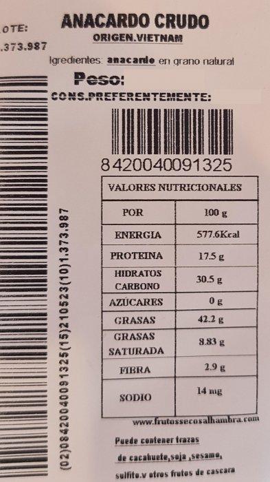 Anacardo Crudo 1